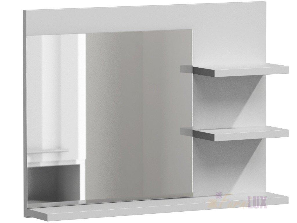 Lustro Do łazienki Z Półkami Mulo Biały Połysk